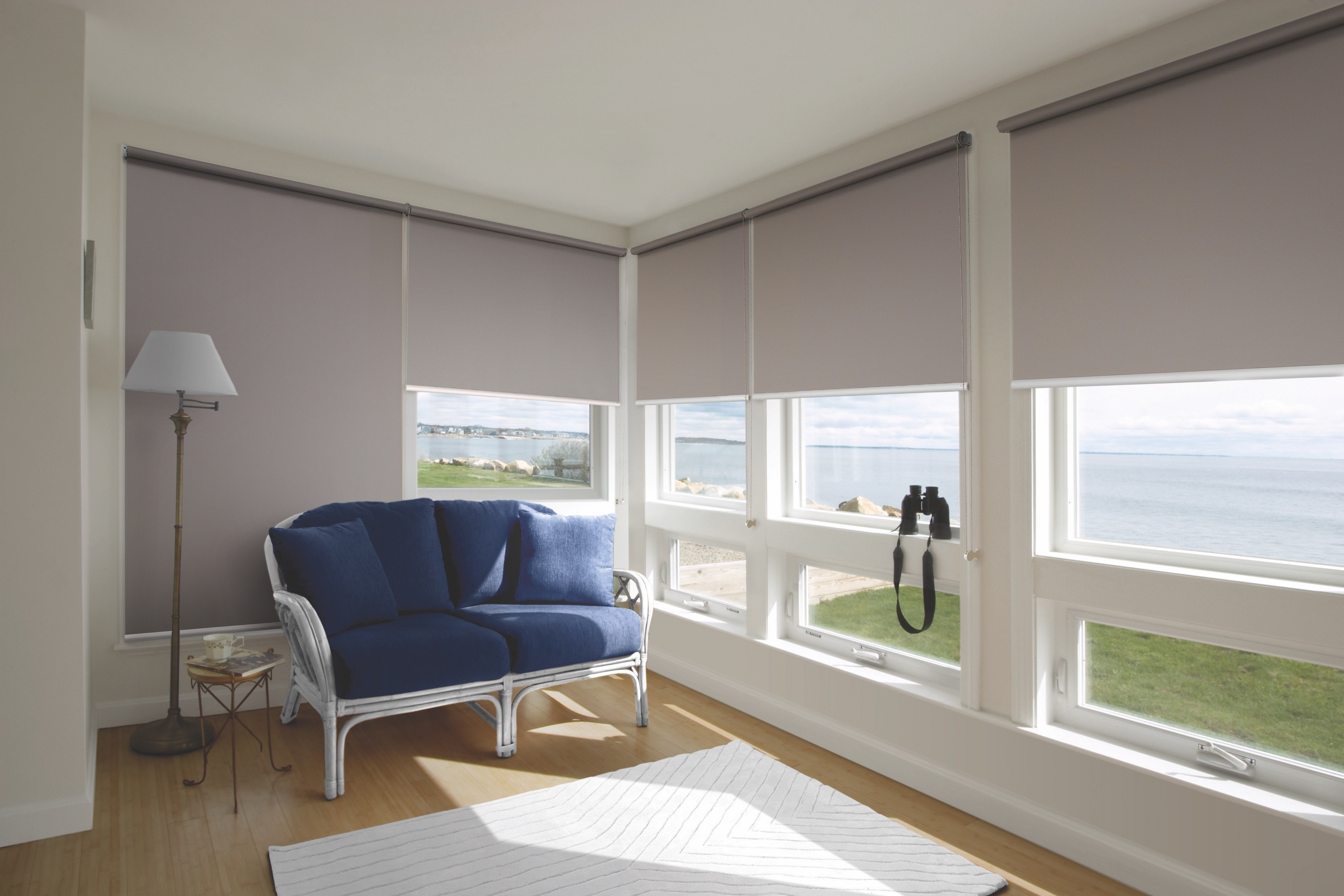 Blockout Roller Blinds In 100 Polyester Fabric Cheap As